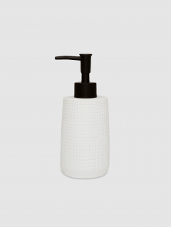 Dispenser Jabón Líquido Blanco Stone 18x7cm