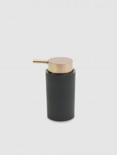 Dispenser Jabón Líquido Negro/Cobre Premium 14x7cm