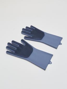 Guantes Cepillo Silicona X2