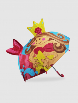 Paraguas Sirena Infantil 3D