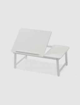 Bandeja Porta Laptop para Cama y Sillón Blanca