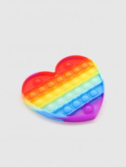 Juguete Pop It Corazón Rainbow